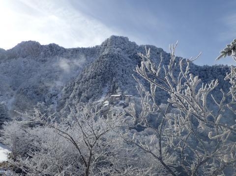 石鎚山のホワイトクリスマス画像