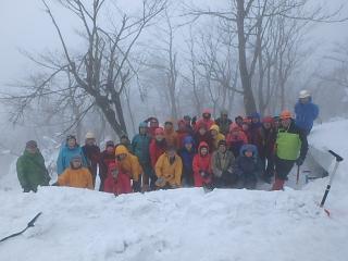 山口県山岳連盟冬山登山交流会 冠山画像