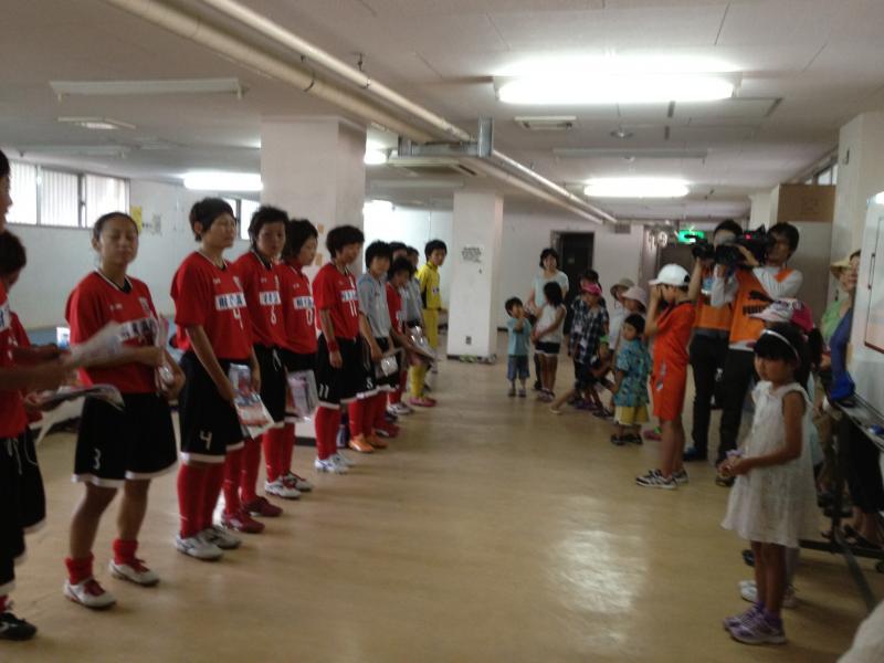 女子サッカー ジュブリーレ鹿児島対アカデミー福島の試合にご招待いただきました。画像